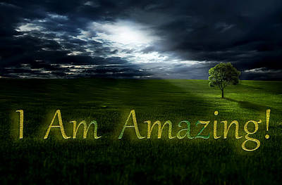 Photograph - I Am Amazing 1 by Ericamaxine Price