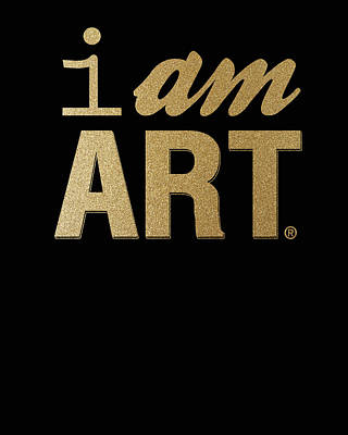 Mixed Media Rights Managed Images - I Am Art- Gold Royalty-Free Image by Linda Woods