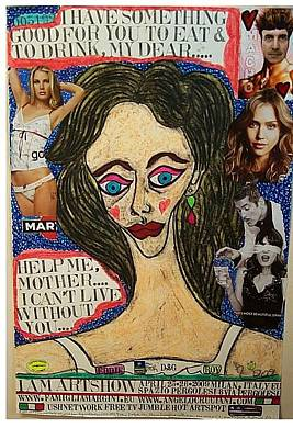 Jessica Alba Mixed Media - I Am Artshow Milano  by Francesco Martin