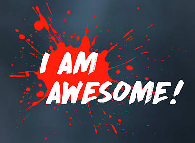 Digital Art - I Am Awesome by Menega Sabidussi