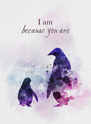 Penguin Mixed Media - I Am Because You Are by Rebecca Jenkins