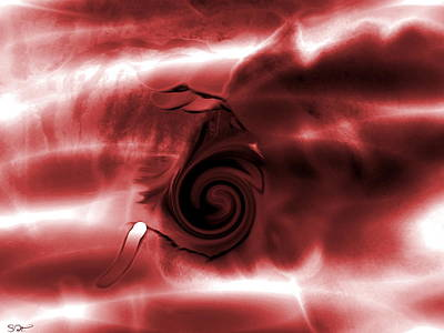 I Am Blood Art Print by Abstract Angel Artist Stephen K