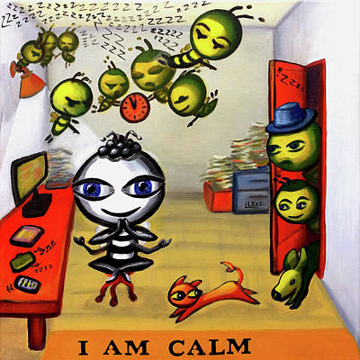 Painting - I Am Calm by Lorette Kos