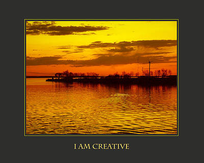 I Am Creative Art Print by Donna Corless