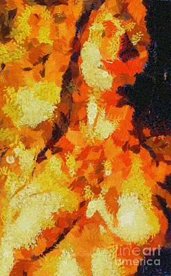 Pumpkins Painting - I Am Fire By Mary Bassett by Mary Bassett