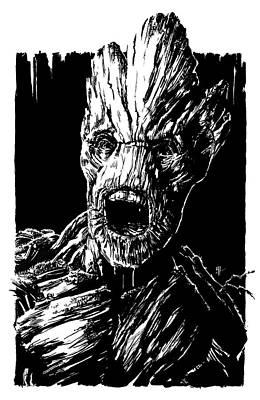 I Am Groot Art Print by Reggy Hafkenscheid