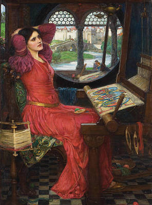 Arthurian Painting - I Am Half Sick Of Shadows Said The Lady Of Shalott by John William Waterhouse