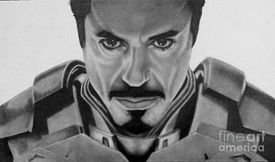 Robert Downey Jr Drawing Drawing - I Am Iron Man by Stacy Taylor