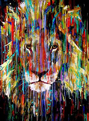 Painting - I Am King Large Painting by Angie Wright
