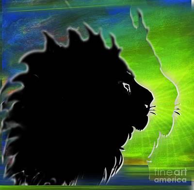 Mixed Media - I Am King Of The Jungle by Belinda Threeths