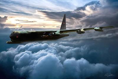 Thunder Digital Art - I Am Legend B-52 by Peter Chilelli