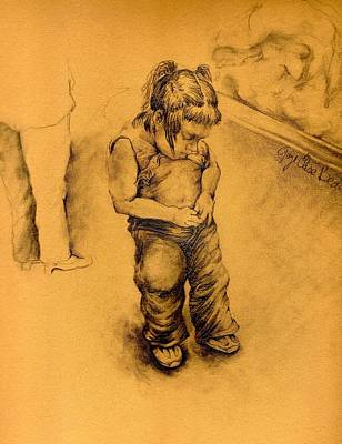 Wall Art - Drawing - I Am Lost In Le Tianguie Mexico by Gaye Elise Beda