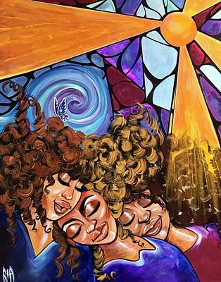 Natural Hair Painting - I Am My Sisters Keeper by RiA RiA