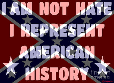 I Am Not Hate I Am American History Art Print by Art by MyChicC