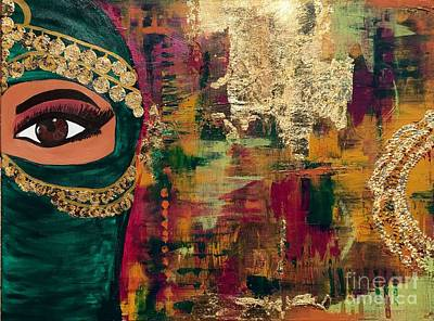 Typographic World Royalty Free Images - I am not my Niqab Royalty-Free Image by Felicia Fridie