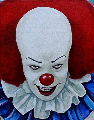 Evil Clown Painting - I Am Pennywise by Al  Molina