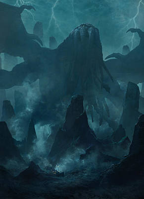 Cthulhu Painting - I Am Providence by Guillem H Pongiluppi