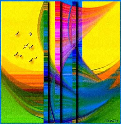 I Am Sailing Art Print by Carola Ann-Margret Forsberg