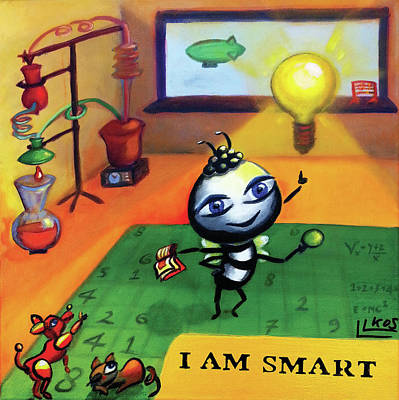 Painting - I Am Smart by Lorette Kos
