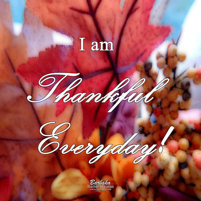 I Am Thankful # 6059 Art Print