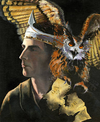 Painting - Gormenghast - I Am The Death Owl by Carol Phenix