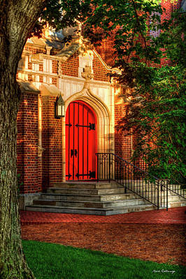 Photograph - I Am The Door St Luke's Episcopal Church Art by Reid Callaway