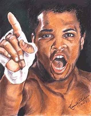I Am The Greatest - Muhammad Ali Original by Kenneth Kelsoe