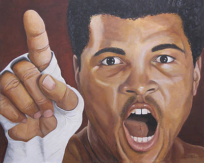 Cassius Clay Painting - I Am The Greatest 2 by Kenneth Kelsoe