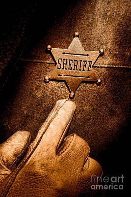 Law Enforcement Photograph - I Am The Law - Sepia by Olivier Le Queinec