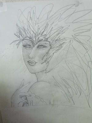 Drawing - I Am The Phoenix by Sharyn Winters