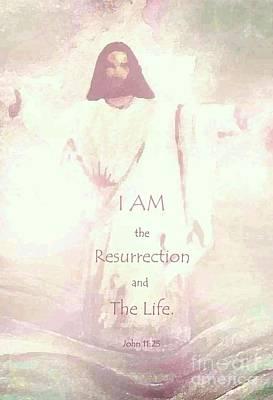 Painting - I Am Resurrection Life by Hazel Holland