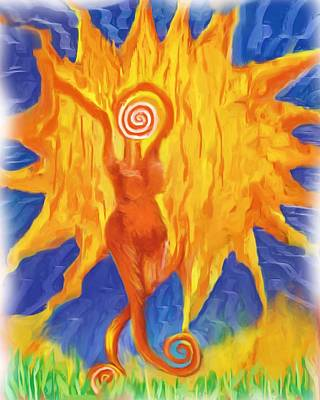 Art Print featuring the painting I Am The Sun by Shelley Bain