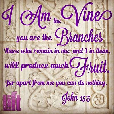 "Design Wall Art - Photograph - ""i Am The True Grapevine, And My by LIFT Women's Ministry designs --by Julie Hurttgam"