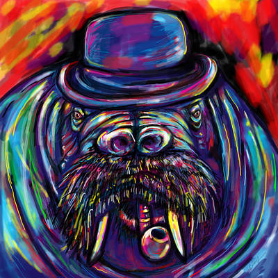 Black Tusk Painting - I Am The Walrus by Julianne Black
