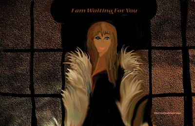 Digital Art - I Am Waiting For You by Sherri's - Of Palm Springs