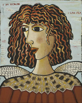 I Am Woman, I Can Fly - Bird Art Print