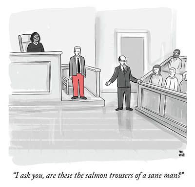 Law Drawing - I Ask You by Paul Noth