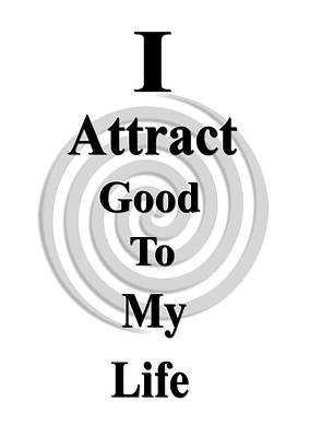 I Attract Black Art Print by I Attract Good
