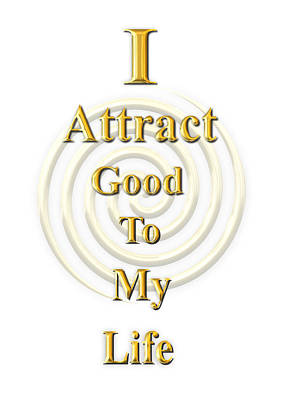 I Attract Gold Art Print by I Attract Good