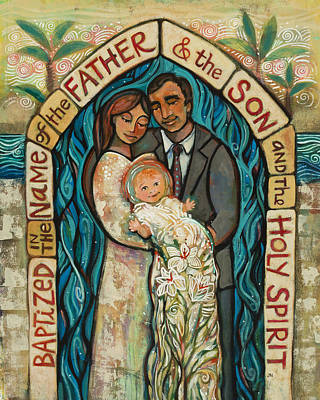 Baptizing Painting - I Baptize You by Jen Norton