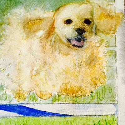 Cocker Spaniel Wall Art - Painting - I Believe I Can Fly by Debra Lampert-Rudman
