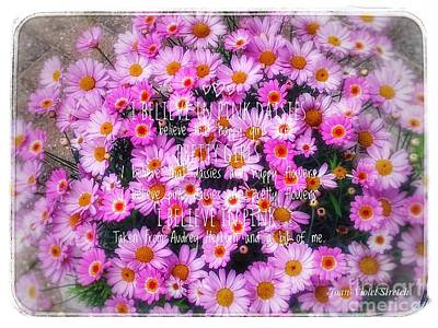 Photograph - I Believe In Pink Daisies 2 by Joan-Violet Stretch