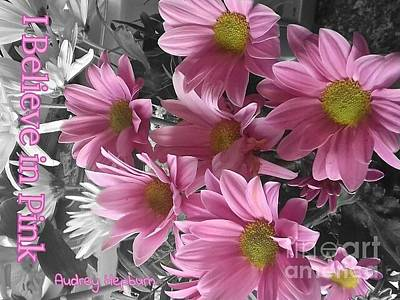 Photograph - I Believe In Pink Gerbera's by Joan-Violet Stretch
