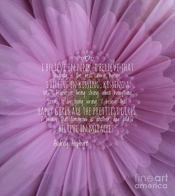 Photograph - I Believe In Pink by Joan-Violet Stretch