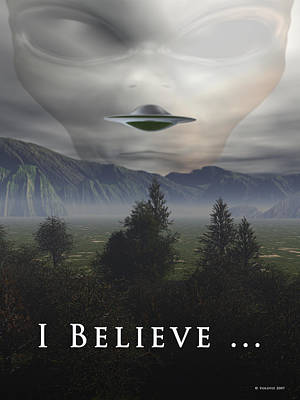 X-files Digital Art - I Believe by Nandor Volovo