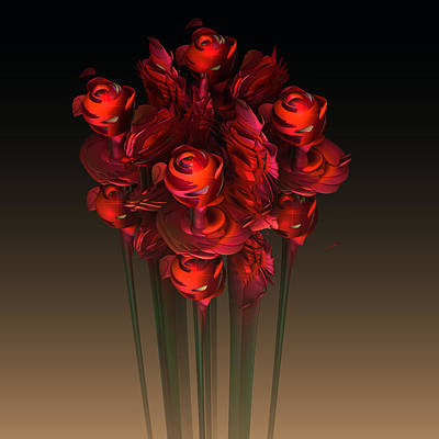 Recondite Digital Art - I Brought Her Flowers by GT Graeff