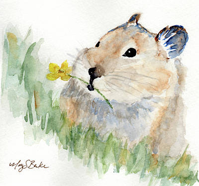 Painting - I Brought You A Flower by Mary Benke