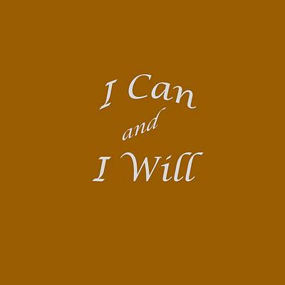 Photograph - I Can And I Will 5451.02 by M K Miller