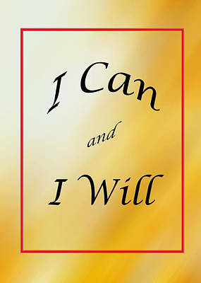 Photograph - I Can And I Will 5452.02 by M K Miller
