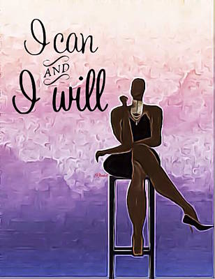 Digital Art - I Can And I Will by Romaine Head